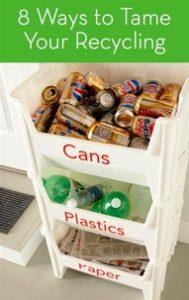 etajera pentru reciclare