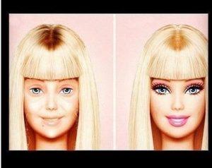 Barbie inainte si dupa...