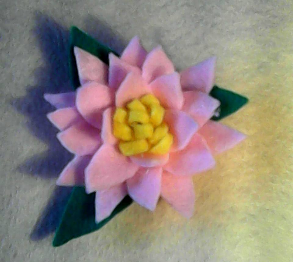 floare roz hand made vavaly