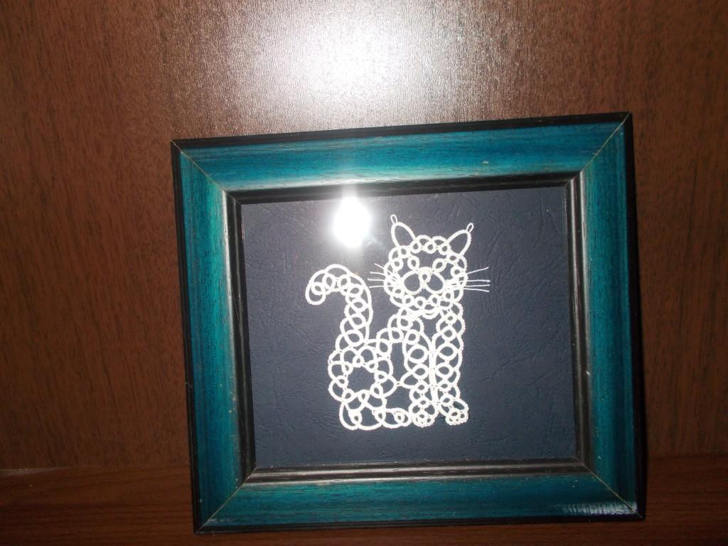 pisica tablou