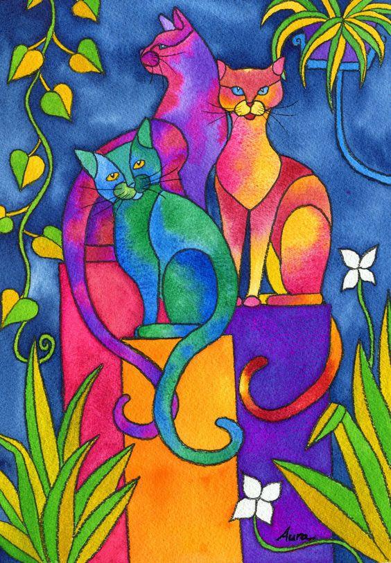 pisici tablou
