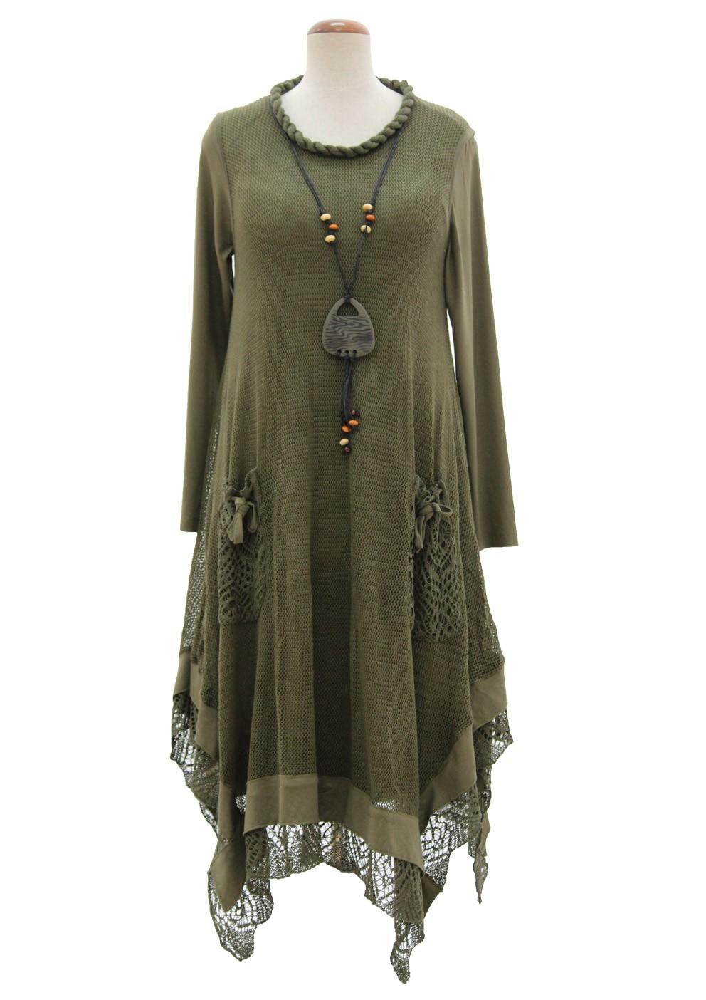 rochie-tricotata-asimetrica-cu-maneca-lunga-kaki-r270003-fata-992x1404