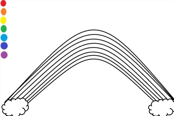 curcubeu de colorat plansa